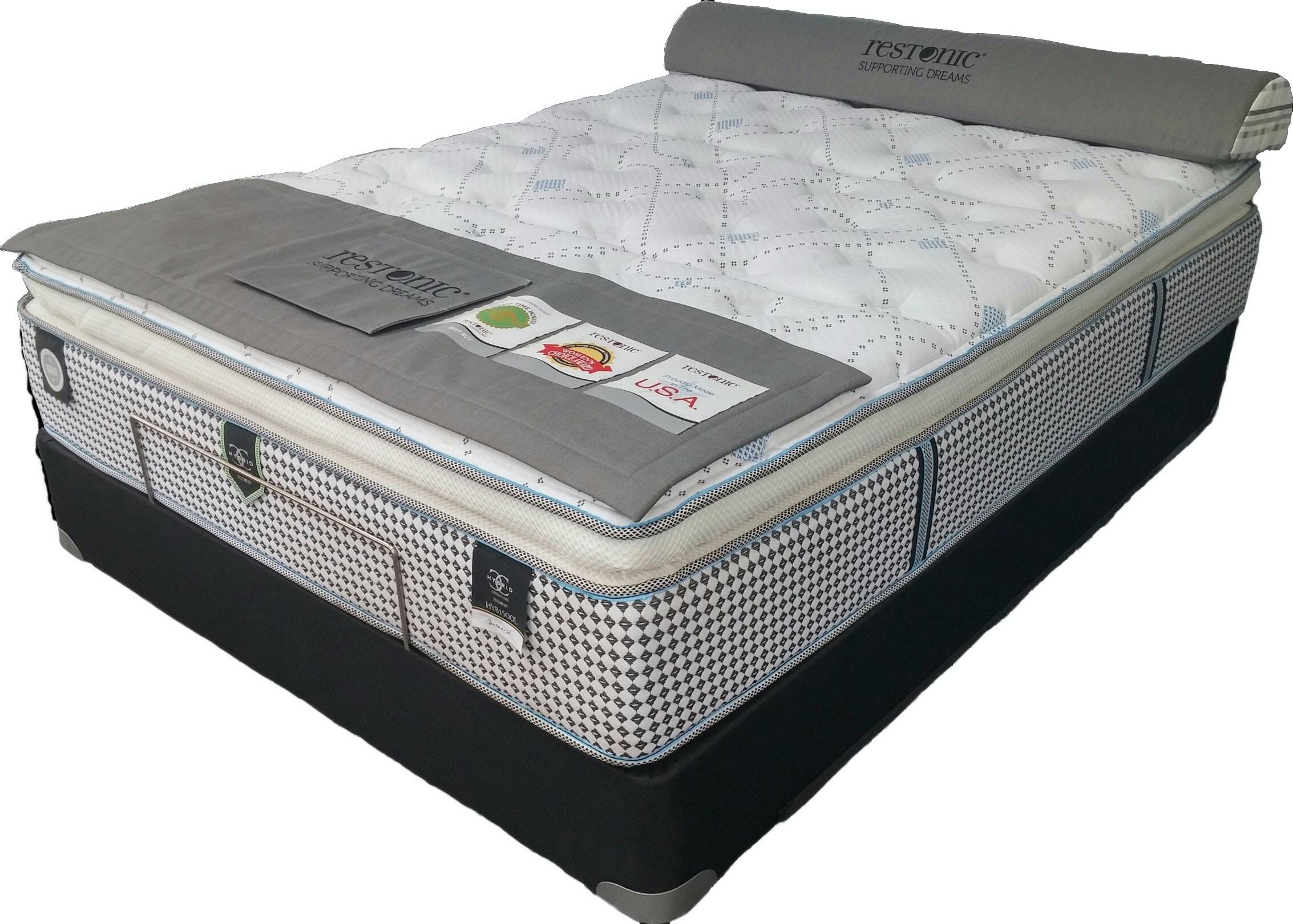Restonic Mattresses Pillowtop Mattress Set HYB1500L