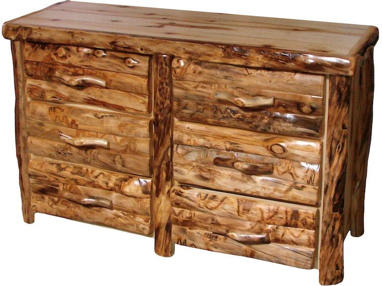 Rustic Log Furniture 6 Drawer Dresser 6ddl 60 Nn