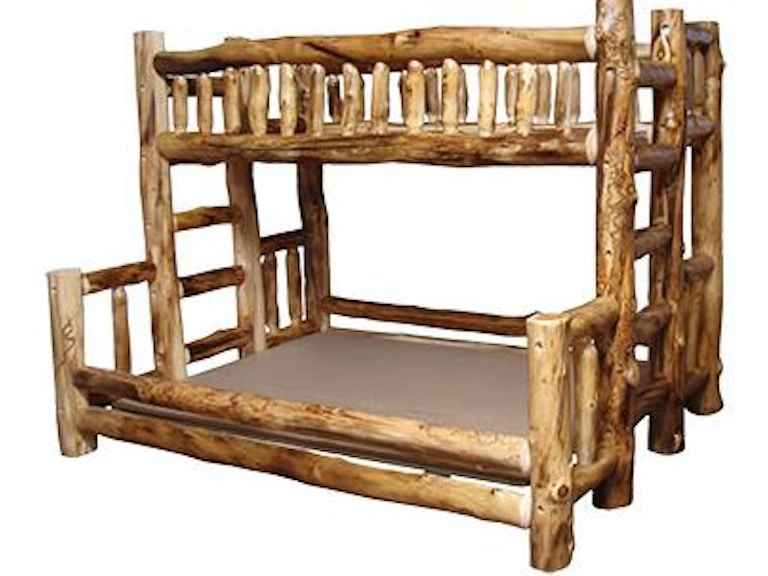 Rustic Log Furniture Bedroom Rustic Twin Queen Bunk Bed Bbed Tq Nl
