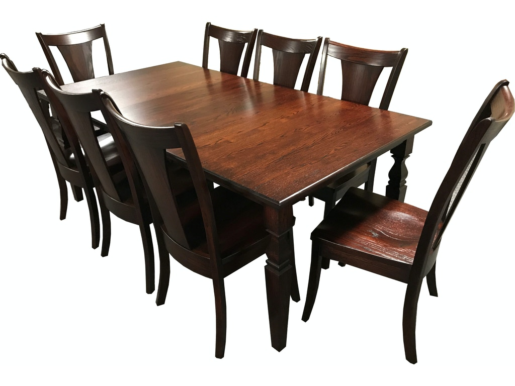 Sunrise furniture 9 piece dining room table set grb 65 for Dining room tables 9 piece