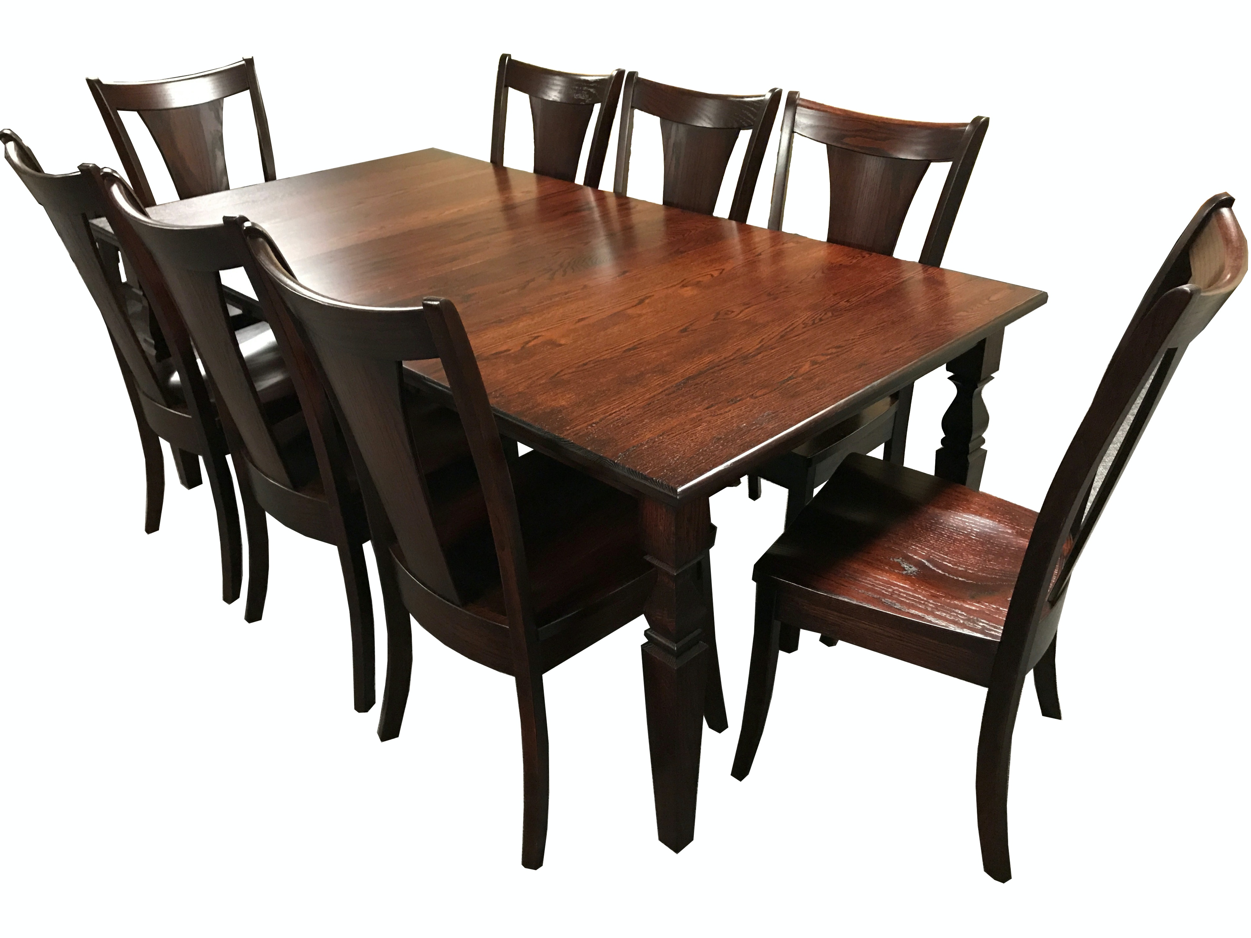 Nice Sunrise Furniture 9 Piece Dining Room Table Set GRB/65