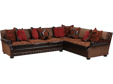 Fabric Leather Sectional 17