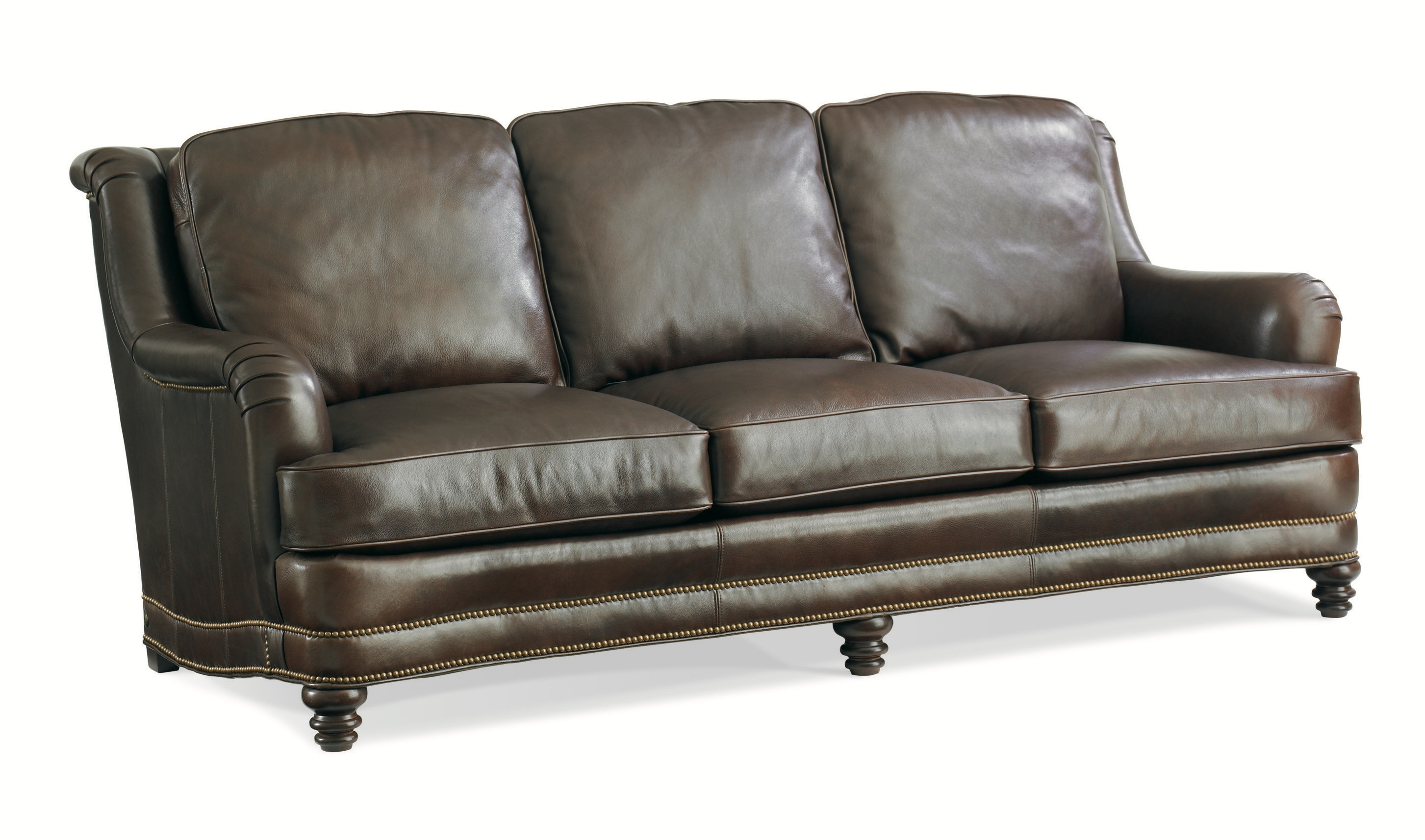 Whittemore Sherrill Furniture Three Cushion Leather Sofa Artisan Sofa