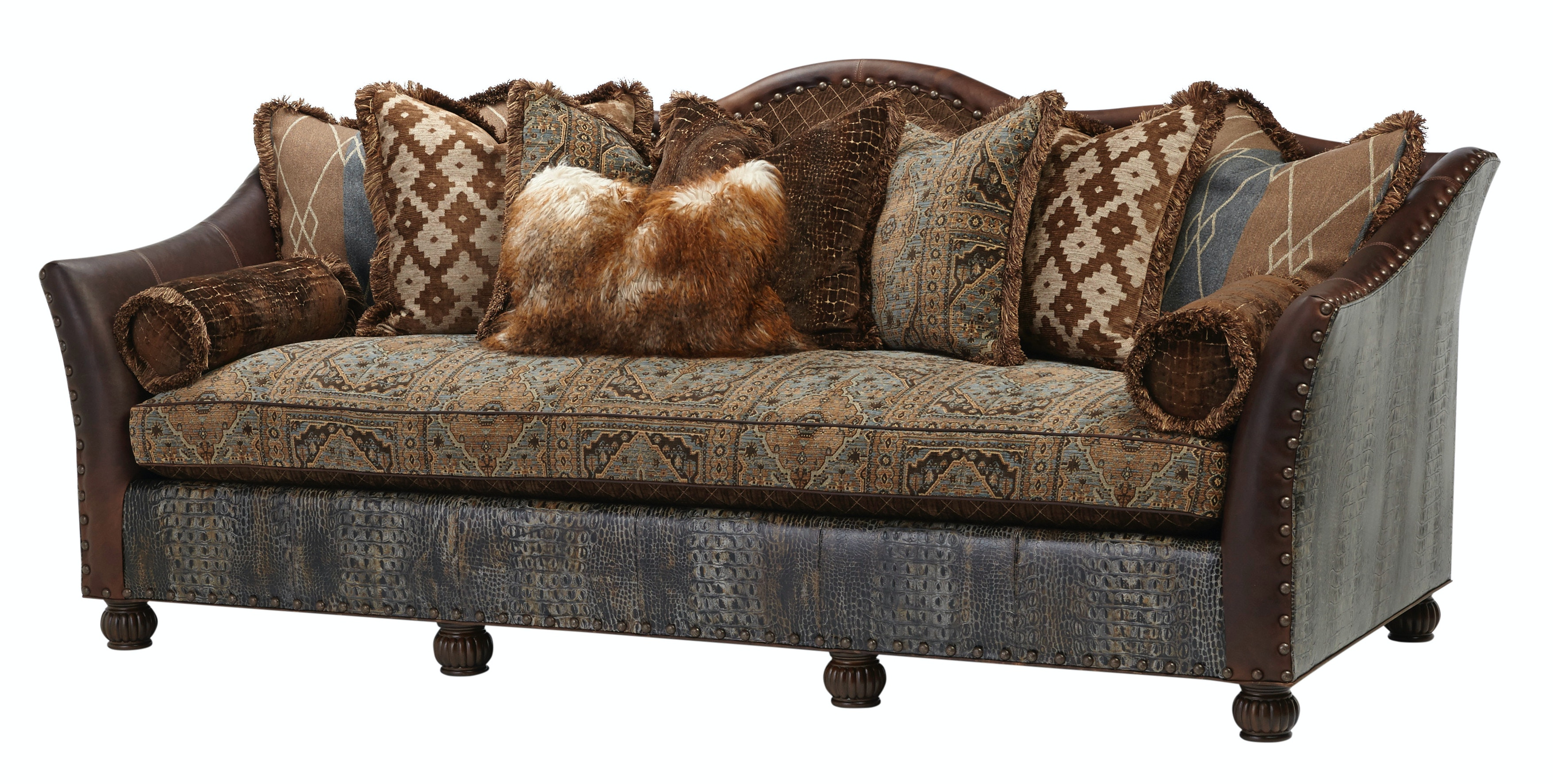 Superieur Living Room Fabric Leather Sofa At Colorado Style Home Furnishings