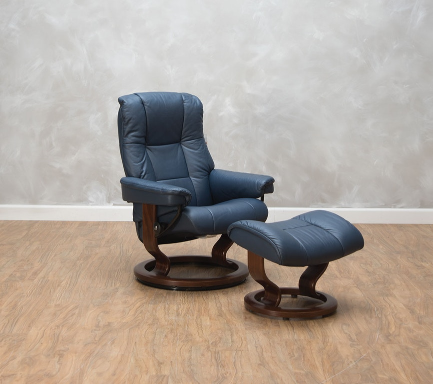 Small Chair With Ottoman: Stressless By Ekornes Living Room Mayfair Small Chair