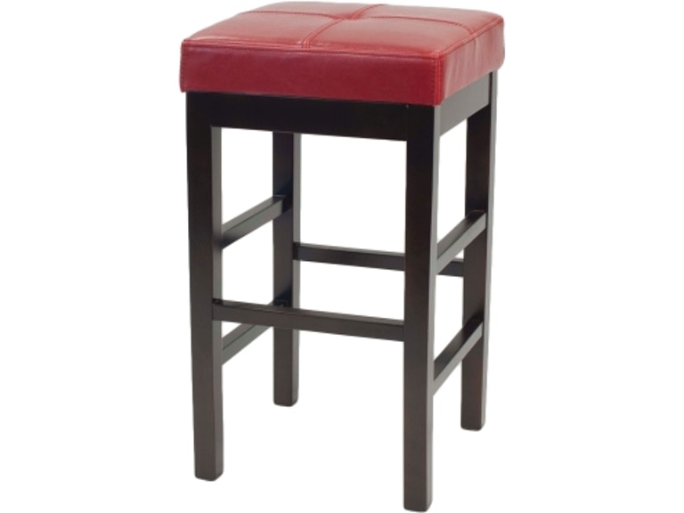 New Pacific Direct Valencia Red Counter Stool
