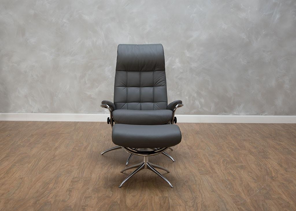 Stressless By Ekornes London High Back Chair U0026 Ottoman 547840