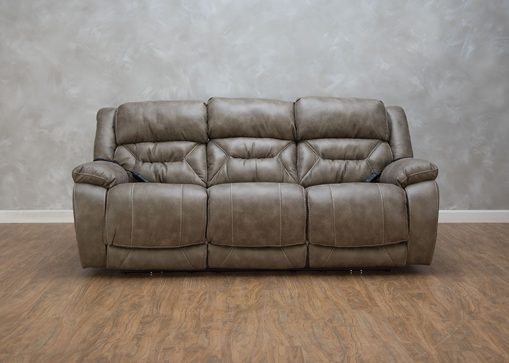 Enterprise Reclining Sofa With Headrest And Lumbar
