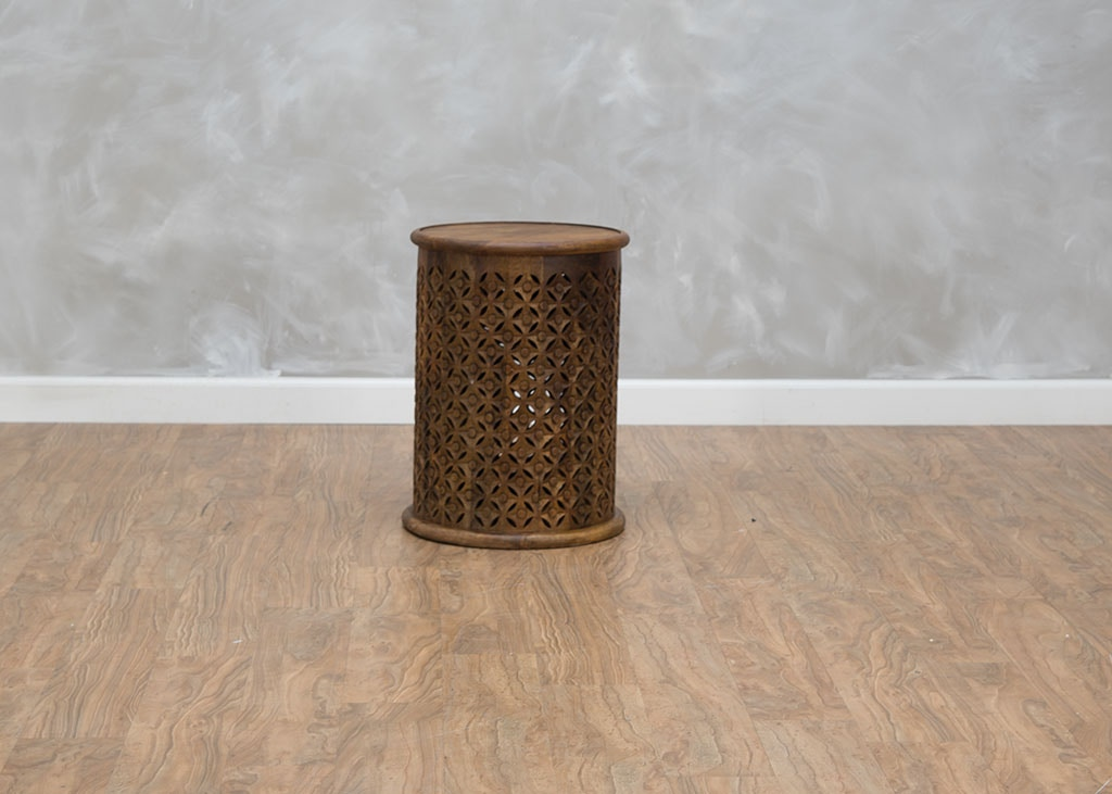 First Avenue Living Room Mango Drum Table 550560 - Kittle\'s ...