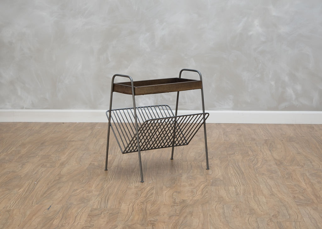 First Avenue Living Room Magazine Rack Chairside Table