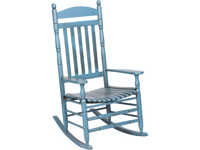 Hinkle Chair Company Riverside Antique Blue Rocker 538577 - Hinkle Chair Company Living Room Riverside Antique Blue Rocker