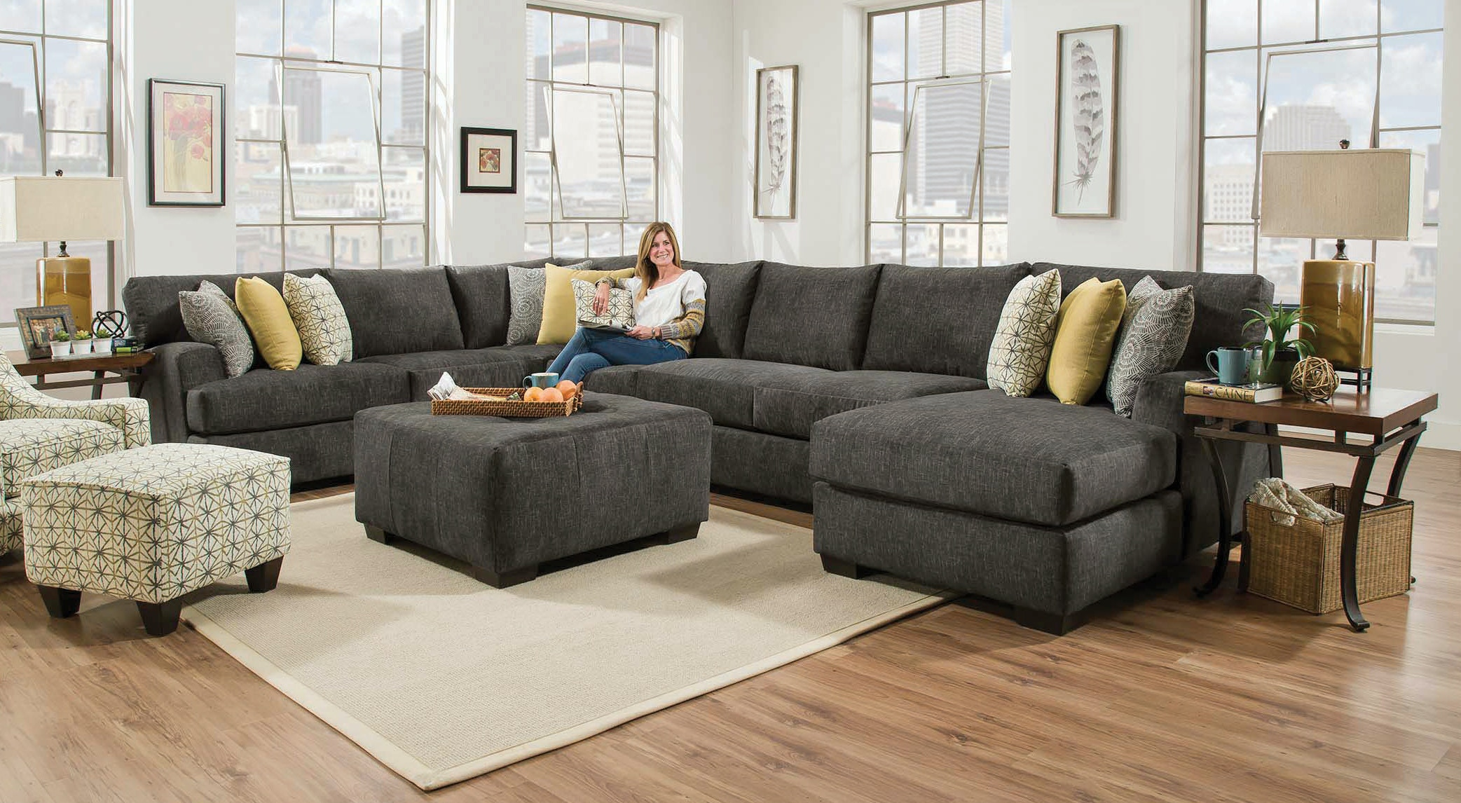 living room furniture configurations chesapeake living room alton 3 sectional alternate 16242