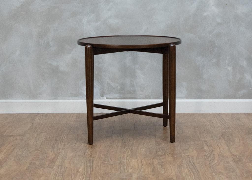 Hekman Mid Century Modern Round End Table 560174