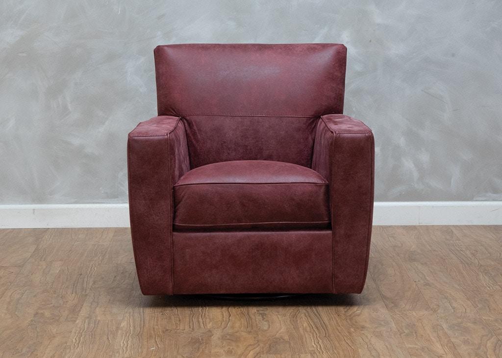 Bella Casa Living Room Liliana Leather Swivel Chair 560467 ...