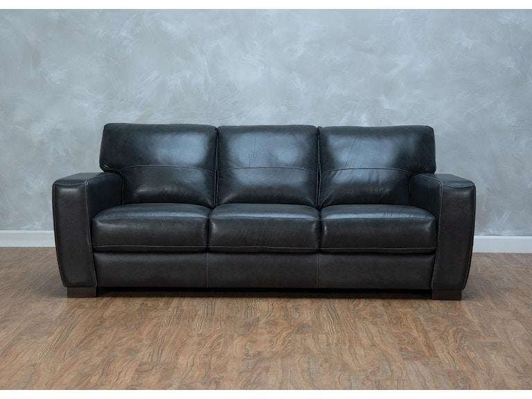 Bella Casa Lucca Sofa Is A Sleek Black