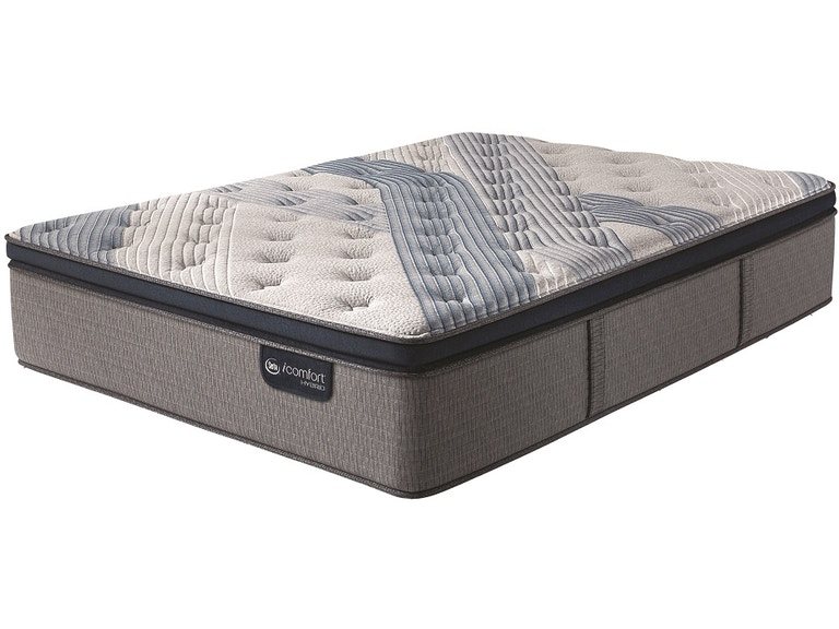 Icomfort By Serta Hybrid Blue Fusion 100 Firm Queen Split Foundation Mattress Set