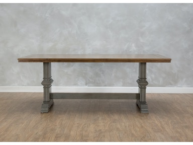 Horizon Oak Rectangular Trestle Dining Table 53078OR