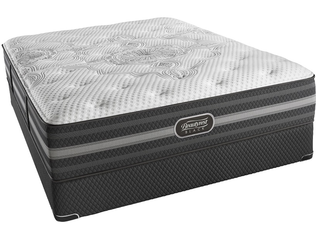 Simmons Beautyrest 174 Mattresses Black Desiree Plush Queen Mattress Set
