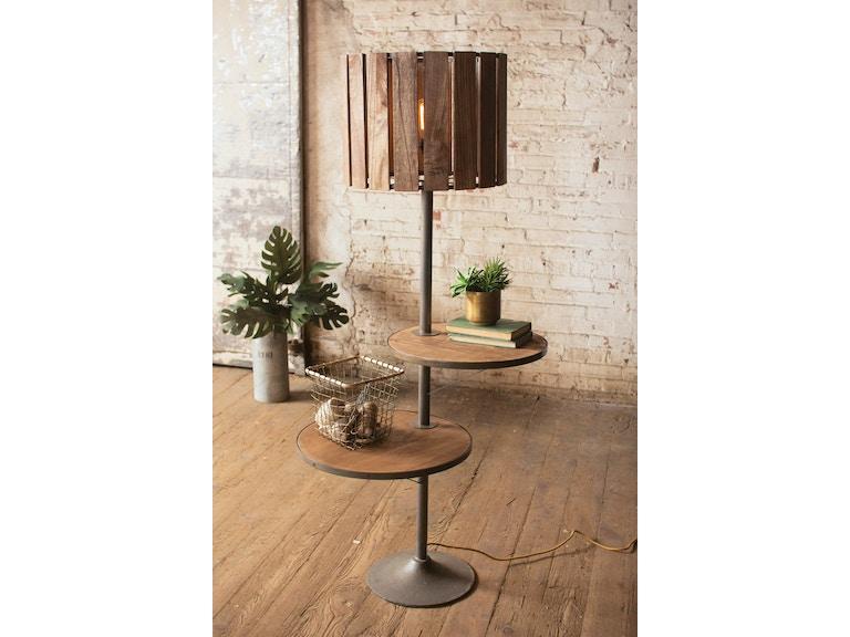 Kalalou Floor Lamp With Shelves