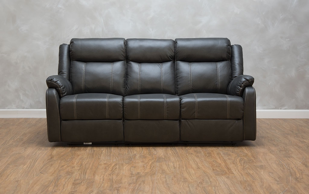 Klaussner Living Room Domino Reclining Sofa With Table 530657