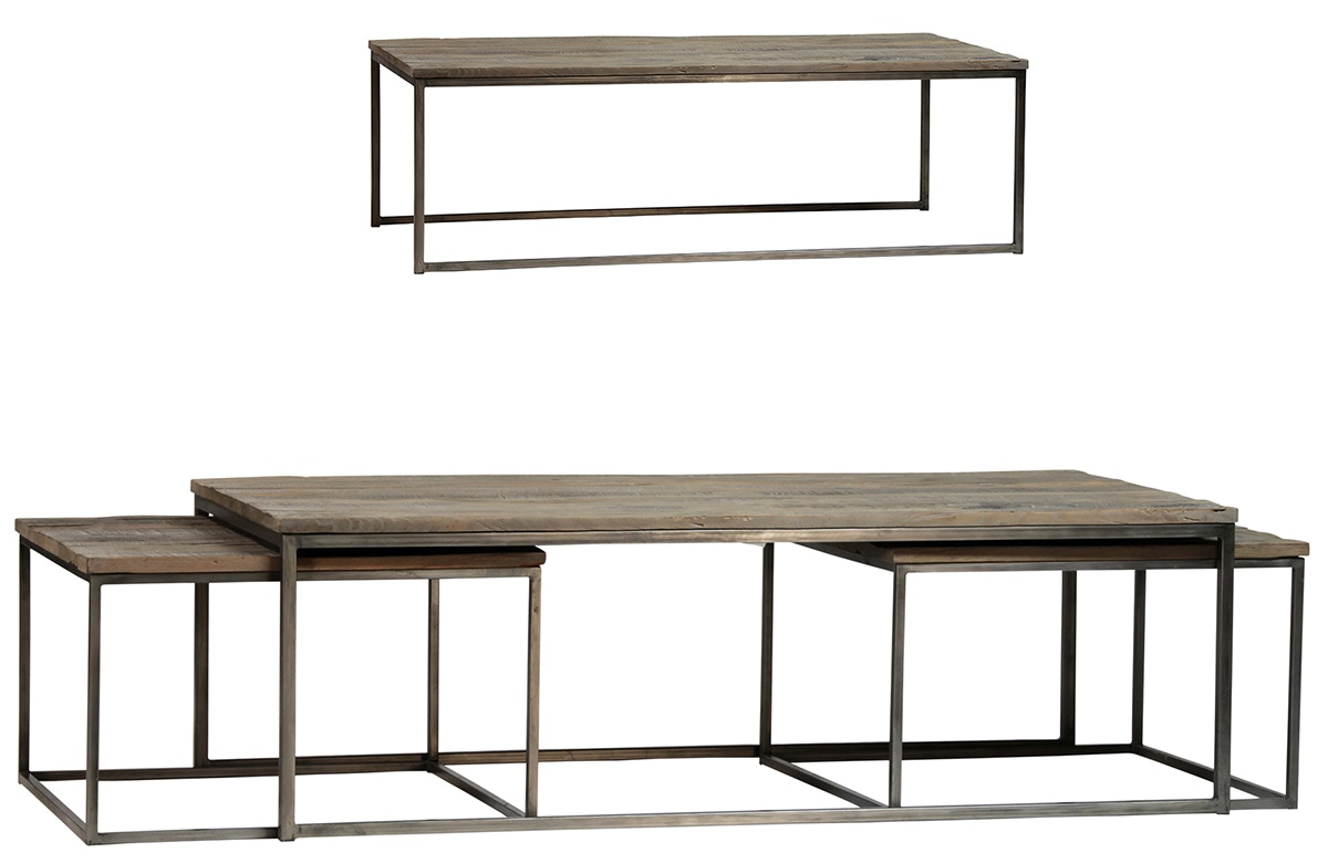 Dovetail Furniture Douglass Coffee Table Set Of 3 520838
