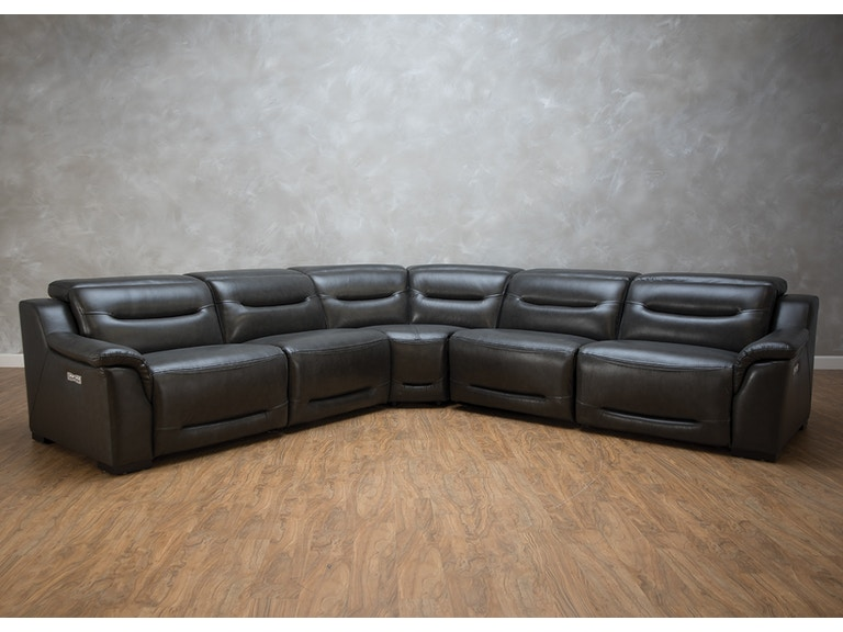 Forte Kitley 5 Piece Reclining Sectional G70089