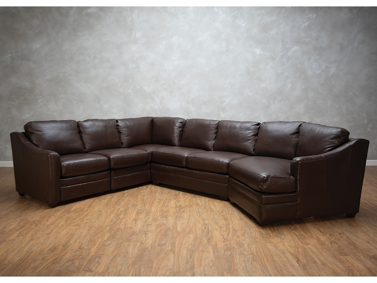 Heath 3 Piece Power Leather Sectional