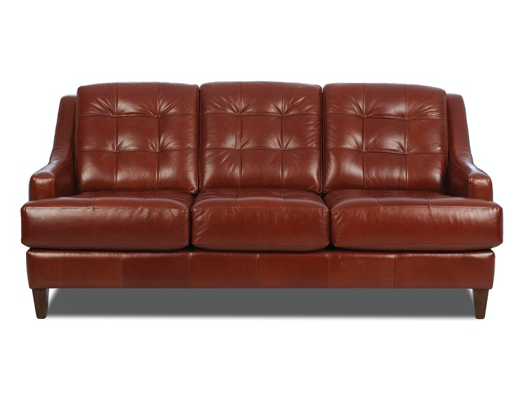 Klaussner leather sofa refil sofa for City furniture in homestead
