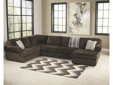 39804 Jessa Place Chocolate Sectional