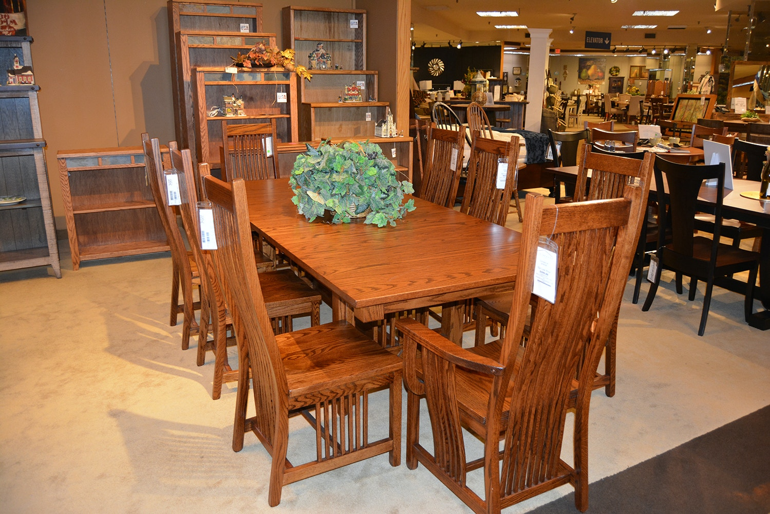 Danielu0027s Amish Table And 4 Chairs 42722 LEGEN5PC