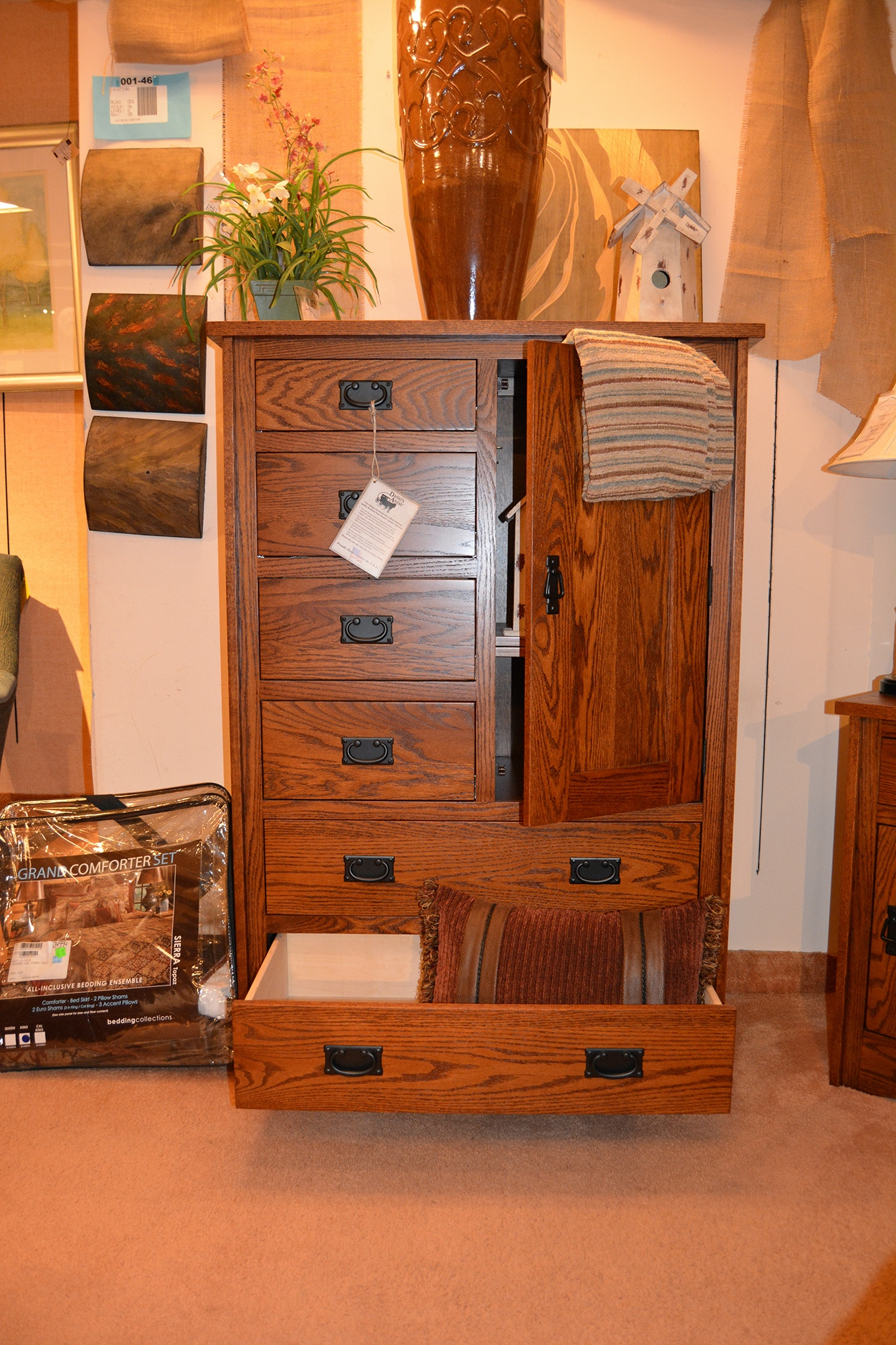 Danielu0027s Amish Mission Armoire 31 3110 10 15 At Gustafsonu0027s Furniture And  Mattress