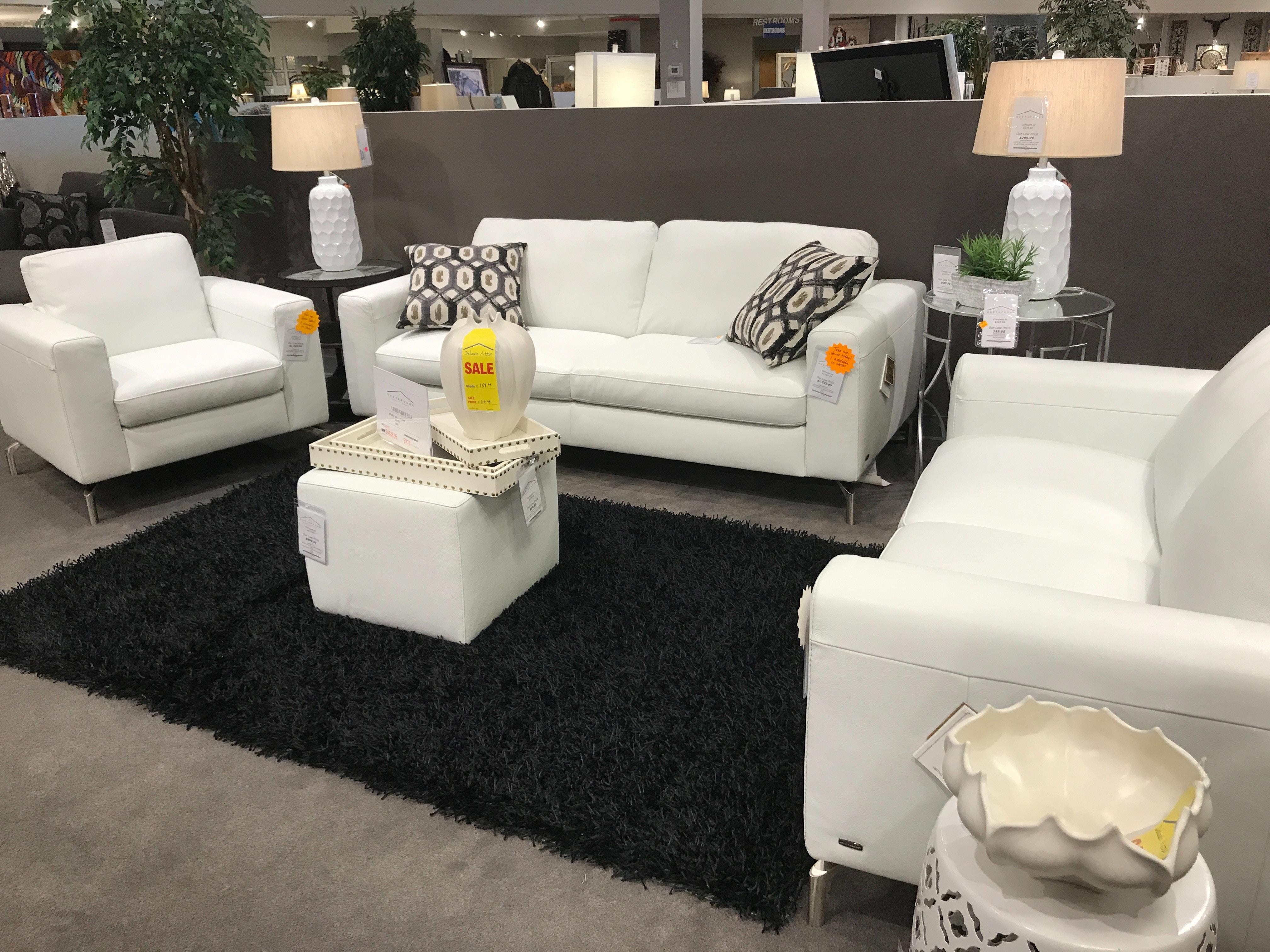 Natuzzi Leather Sofa, Loveseat, Chair, And Ottoman B845