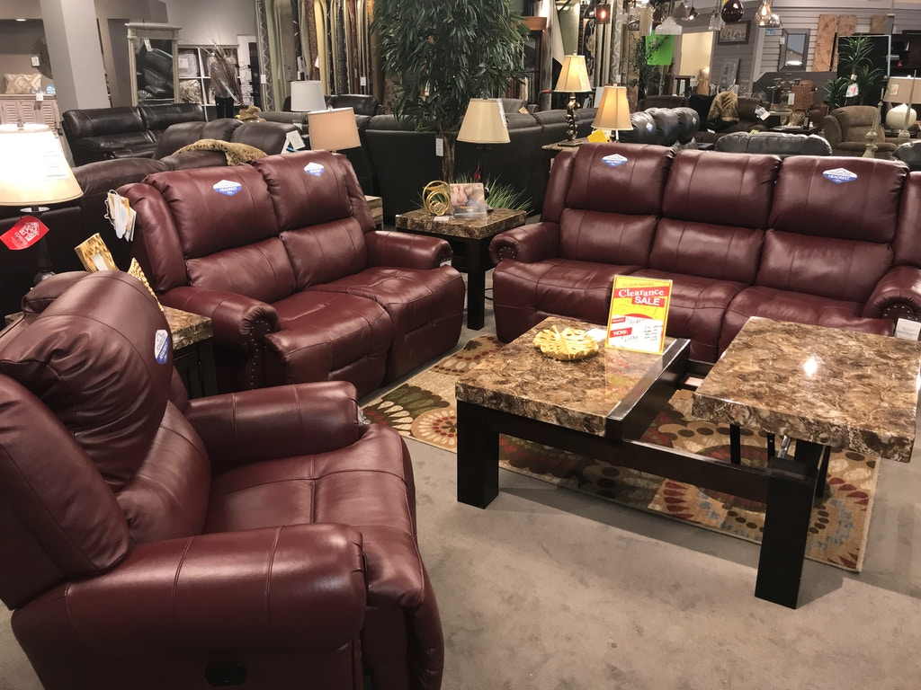 Best Home Furnishings Power Reclining Leather Sofa, Loveseat, and ...
