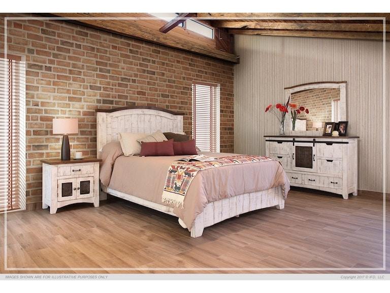 International Furniture Direct 360 Pueblo White Queen Footboard 000008523610 At Gustafsons And Mattress