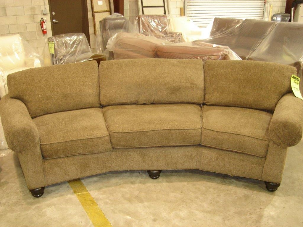 Great Slone Clearance Center Living Room ZBRKS Curved Sofa 512 At Slone Brothers