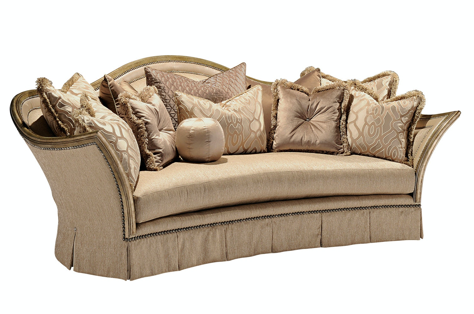 Marge Carson Living Room Luciana Sofa LUC43 Noel Furniture