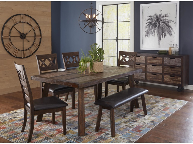 Jofran Dining Room Table, Chairs,Bench 600028 - Hansens Furniture ...