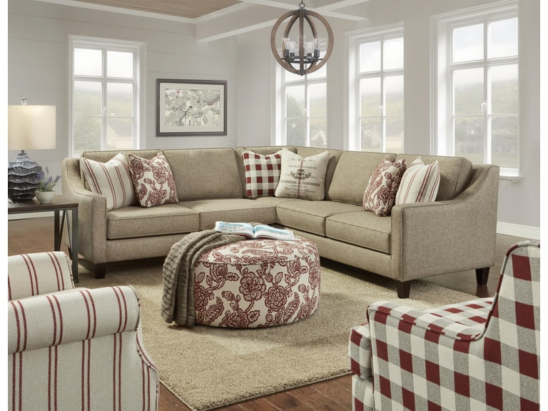 Fusion Furniture Inc Living Room Three Piece Sectional 206117