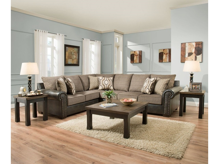 Simmons Upholstery Living Room Sectional 298001297 Available At Hansens Furniture In Modesto And Winton Ca Locations