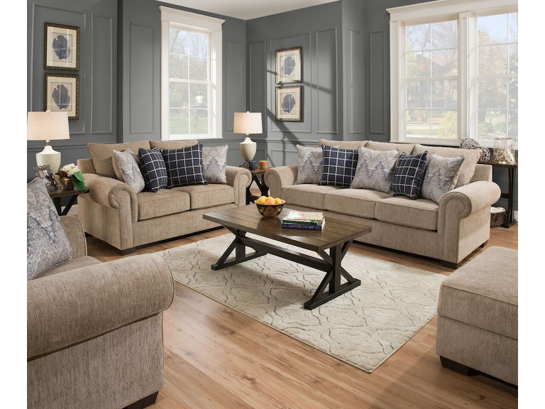 Simmons Upholstery Living Room Sofa Love 298001199 Available At Hansens Furniture In Modesto And