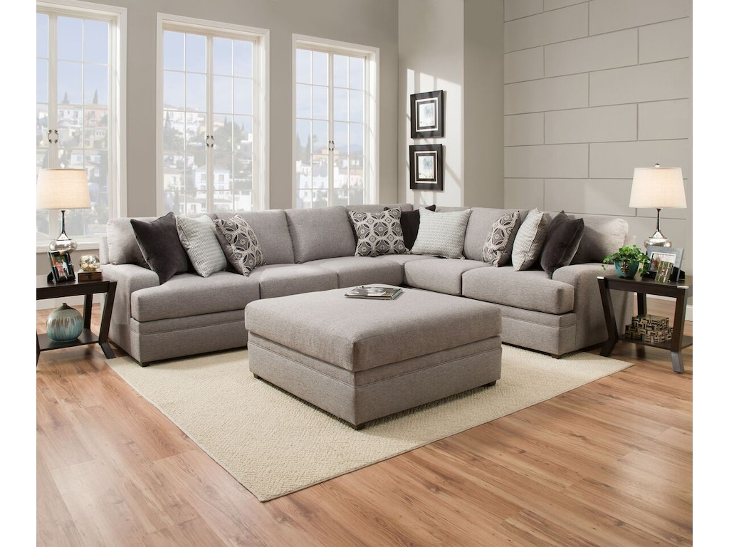 Simmons Upholstery Living Room Sectional Dublin Briar