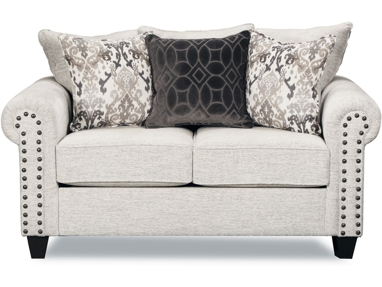 Simmons Upholstery Living Room Loveseat Della Linen 204074 Available At Hansens Furniture In Modesto And Winton Ca Locations
