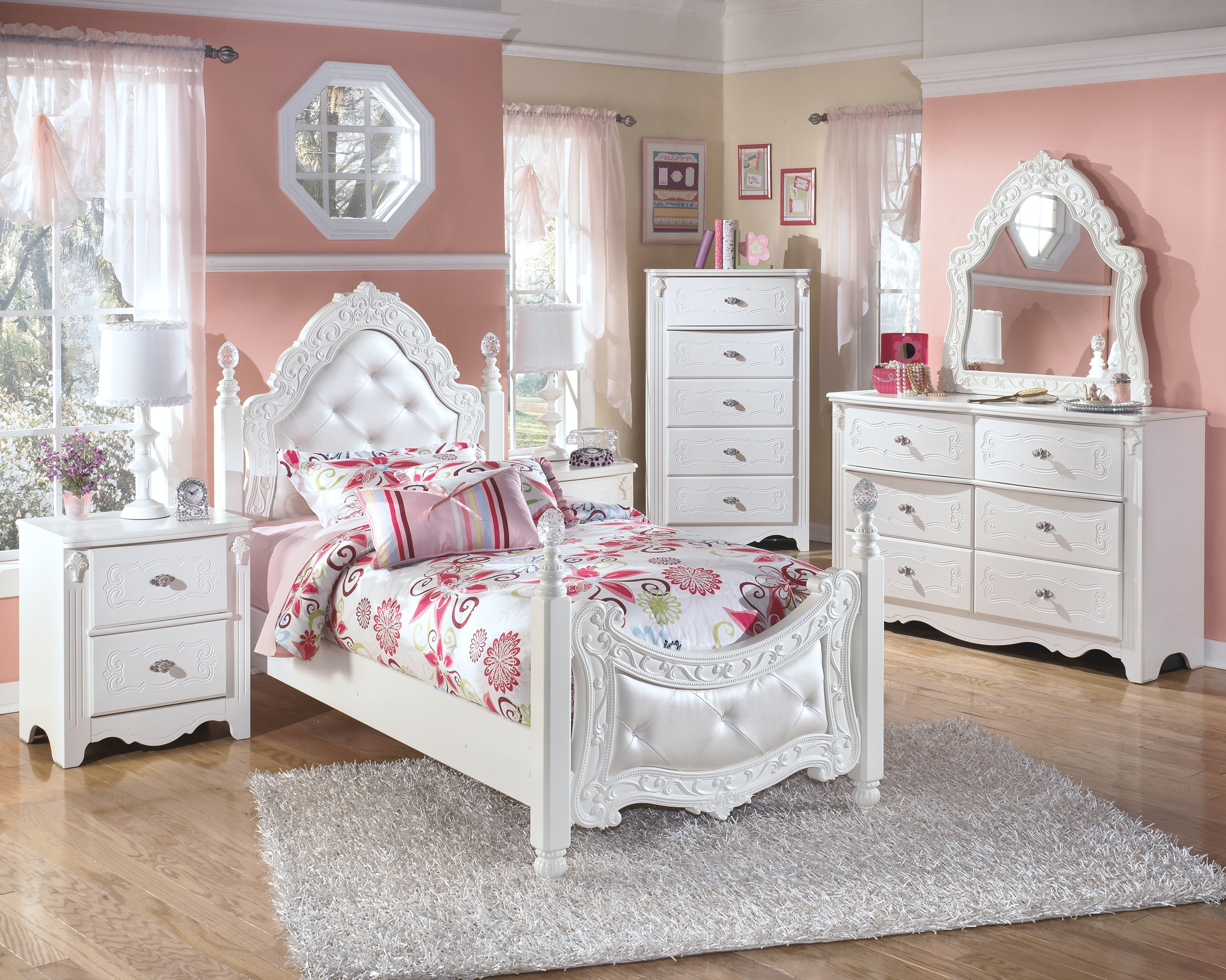 Hansenu0027s Exclusives Youth Bedroom Set Princess Set