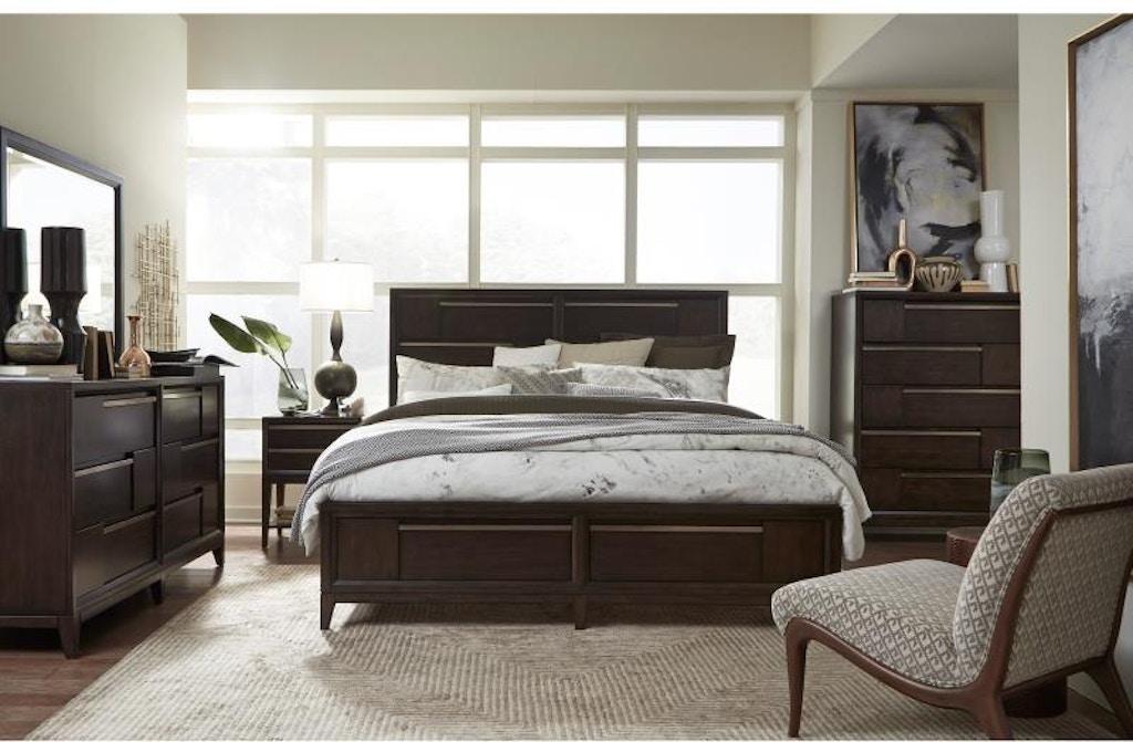 Magnussen Home Bedroom Set Modern Geometry Hansens Furniture Modesto And Winton Ca Showrooms