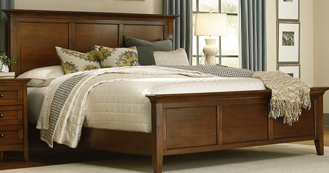 A America Cherry Brown Bedroom Set